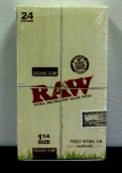 Raw Organic 1 1 4 Rolling Paper Box Of 24 50 leaves per pack Sealed SALE