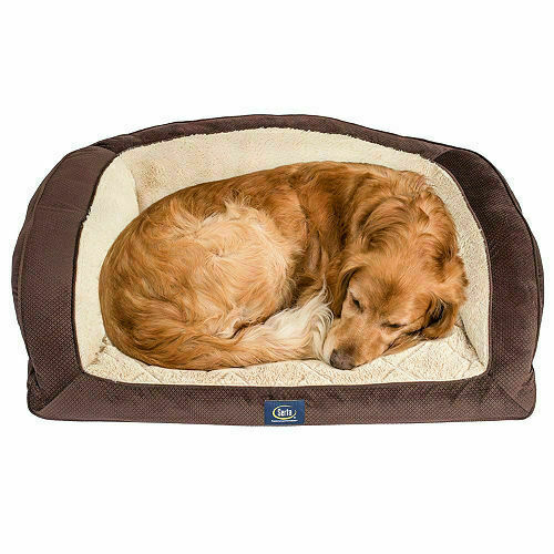 Serta Perfect Sleeper Camel Back Couch Pet Bed 40quot; x 28quot; Brown $48.00