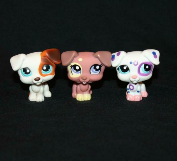 Lot of 3 Littlest Pet Shop JACK RUSSELL TERRIERS #151 #1475 #2306 dog dogs $14.95