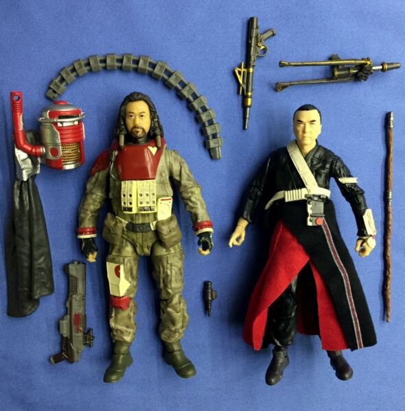 Star Wars The Black Series CHIRRUT IMWE and BAZE MALBUS 6quot; #36 #37 Rogue One $40.00
