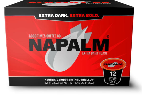Napalm Coffee EXTRA DARK ROAST K Cups for Keurig Brewers 12 Count