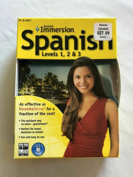 Instant Immersion Spanish Levels 1 2 3 by Topics Entertainment 2006 CD ROM $9.49