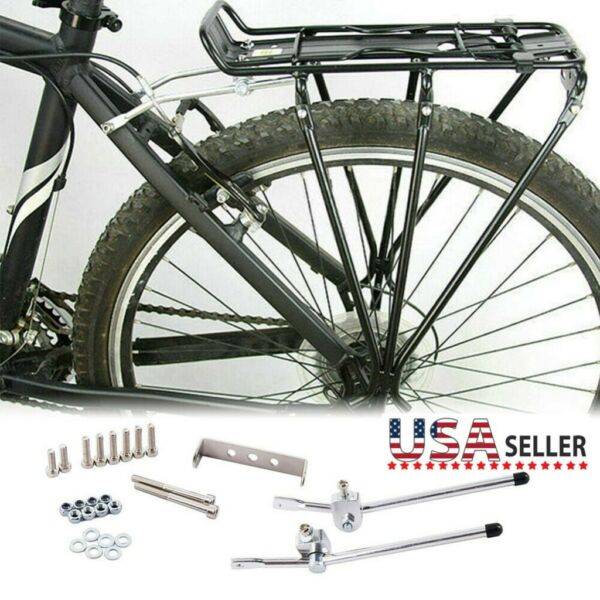 Bicycle Bike Seat Rear Rack Cargo Rack Luggage Carrier Holder Aluminum alloy $23.79