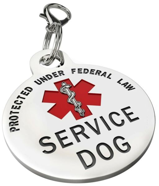 Service Dog Tag Small Breed Premium Double Sided Medical Alert Service Dog Tag $11.95
