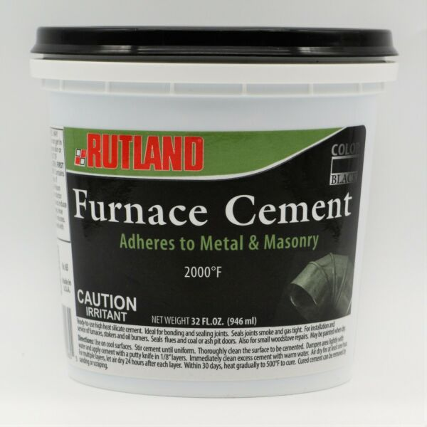 Rutland Furnace Cement 65 Install Service Furnaces Stokers Oil Burners 32 oz $9.95