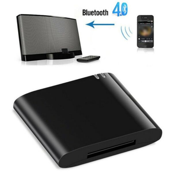 30Pin Dock Speaker Bluetooth 4.1 Music Audio Receiver Adapter for iPod iPhone US $12.95