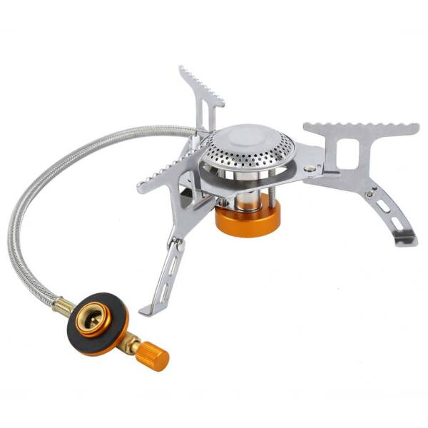 Portable Outdoor Picnic Gas Burner Foldable Camping Mini Steel Stove With Case