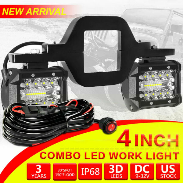 Tow Hitch Mounting Bracket Tri row LED Work Light Pods Backup Reverse For Truck $35.99