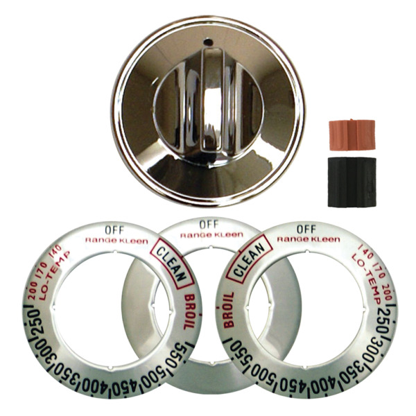 Range Kleen 8221 Chrome Gas Replacement Knob Kit for Ranges and Ovens