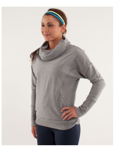 Lululemon NEW Rest Day Gray French Terry Pullover Loose Fitting Size 6 $98