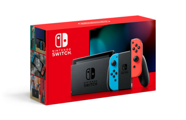 Nintendo Switch w Neon Blue amp; Red Joy‑Con Grey 32GB Newest Model NEW FAST SHIP