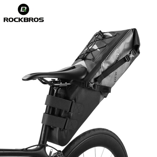 Rockbros Waterproof 10L Bike Bag Large Capacity Saddle Bag MTB Road Bike Trunk $52.20