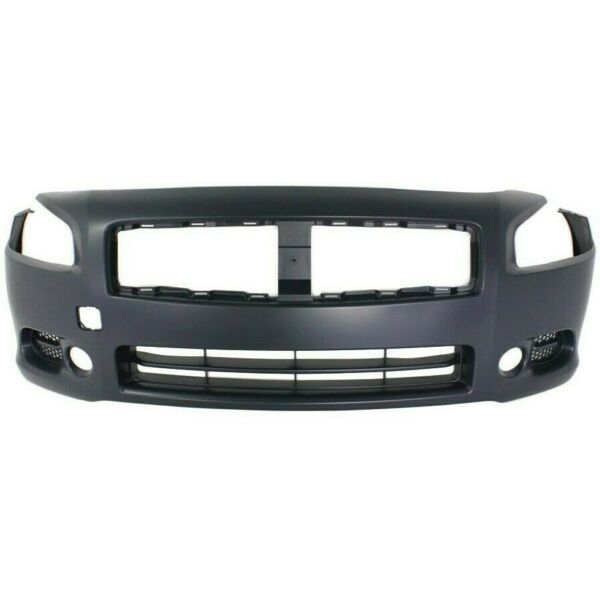 Front Bumper Cover For 2009 2014 Nissan Maxima w fog lamp holes Primed $113.84
