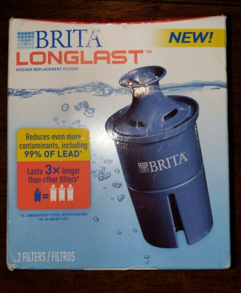 Brita Water Longlast Replacement 3X Pitcher Filters 2 Filters