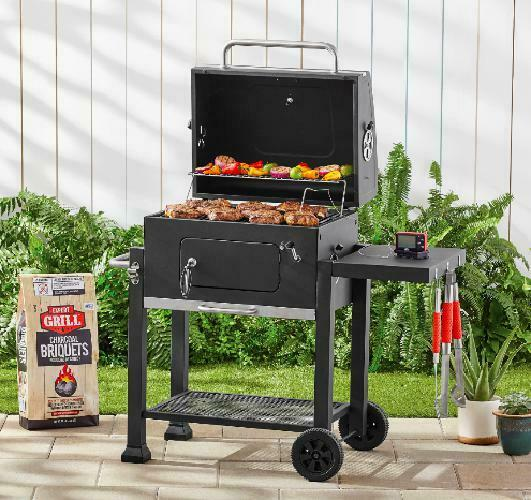 Charcoal Grill BBQ Barbecue Smoker Outdoor Pit Patio Cooker Heavy Duty 24 Inch