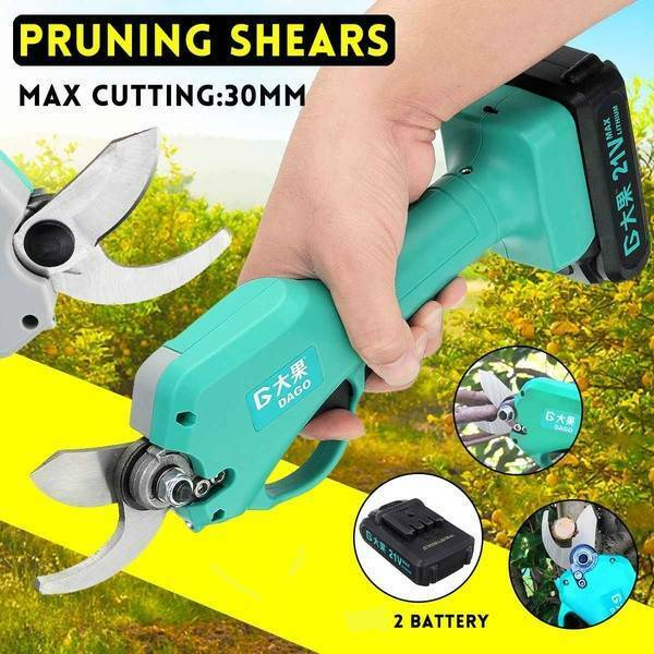 21V 45mm Electric Pruning Shears Cordless Garden Tree Nursery Grafting Trimmer