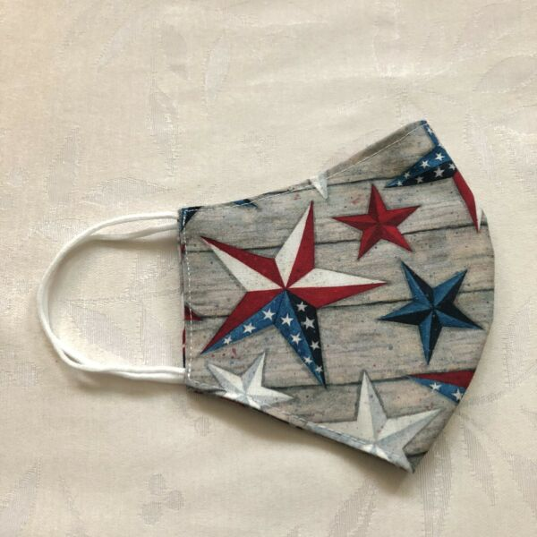 American Patriotic Star Flag Cotton Face Mask Washable Reusable for Adults New