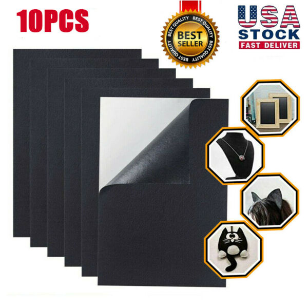 10Pieces Craft Black Adhesive Soft Back Felt Sheets Fabric Sticky Back Sheets US $10.34