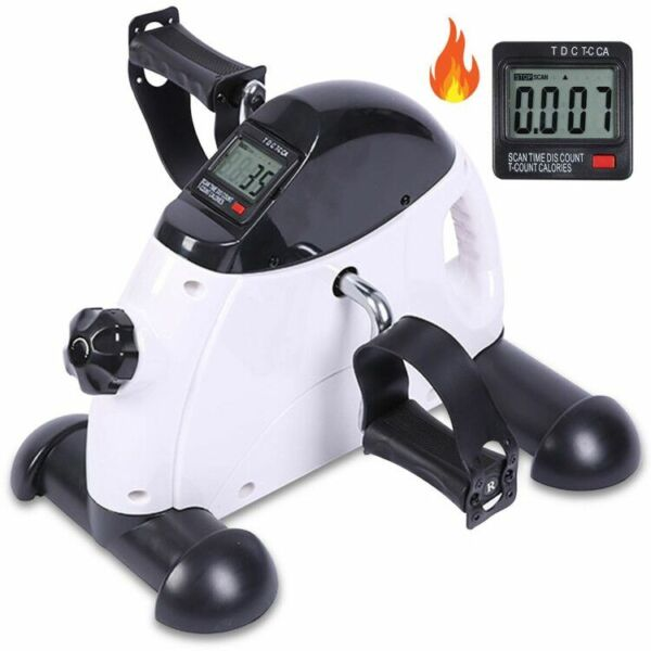 Portable Exercise Pedal Bike for Legs amp; Arms Mini Exercise Peddler w LCD Display $38.90