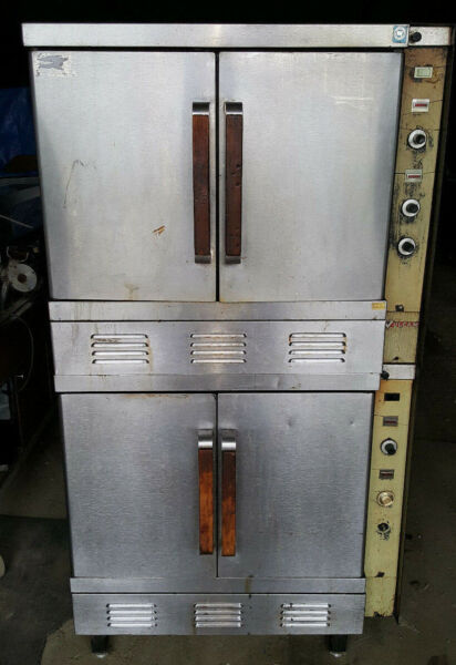 Double Stack Deck Vulcan Gas Commercial Convection Ovens Bakery Oven Equipment