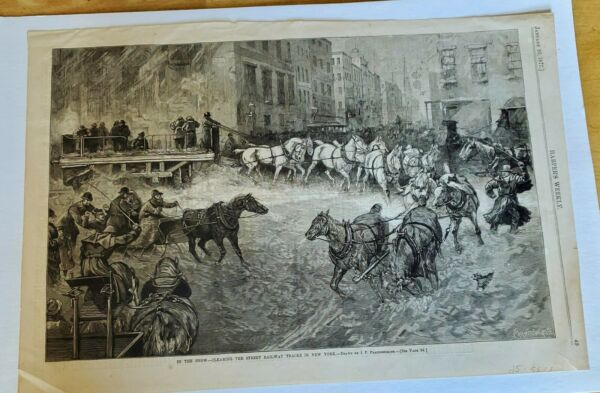 Harpers Weekly In The Snow Single Page #49 Jan 201877