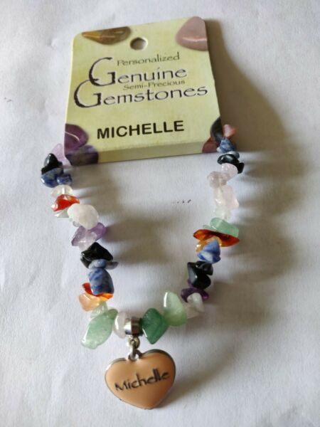quot;Michellequot; Personalized Genuine Semi Precious Gemstone Bracelet $10.80