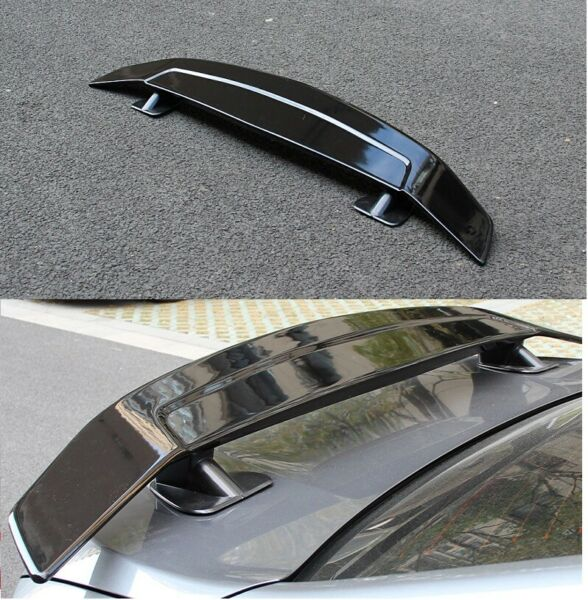 UNIVERSAL 51quot; DRAGON 1 GLOSSY BLACK ABS GT REAR TRUNK ADJUSTABLE SPOILER WING $72.00