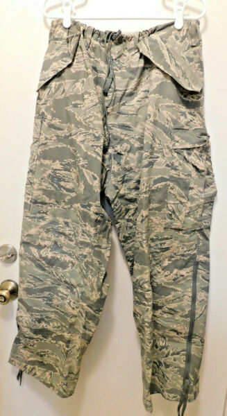 Trousers APECS Air Force Tiger Stripe Camouflage Large Long Used $19.98
