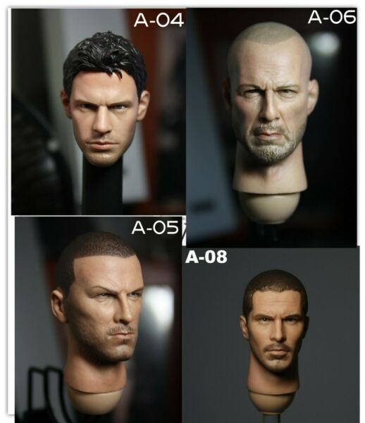 Head Sculpt 1:6 Scale Hollywood Male Movie Star Fit for 12#x27;#x27; Body Action Figure