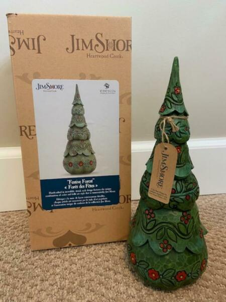Jim Shore Tree Green Festive Forest Tree 8.5quot; Tall #6005693 FREE SHIPPING