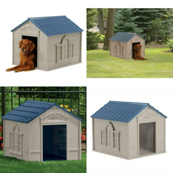 XXL Dog Kennel For X Large 100 Lbs Outdoor Pet Cabin Insulated House Big Shelter $117.99