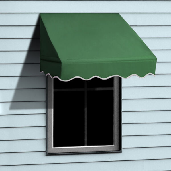 ALEKO Window Awning Door Canopy Decorator 4x2ft Sun Rain Shade Shelter Green