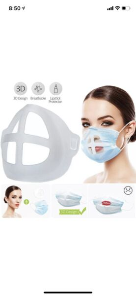 3D PRINTED MASK SUPPORT BRACKET Breath Smooth Cool Mask Breathable