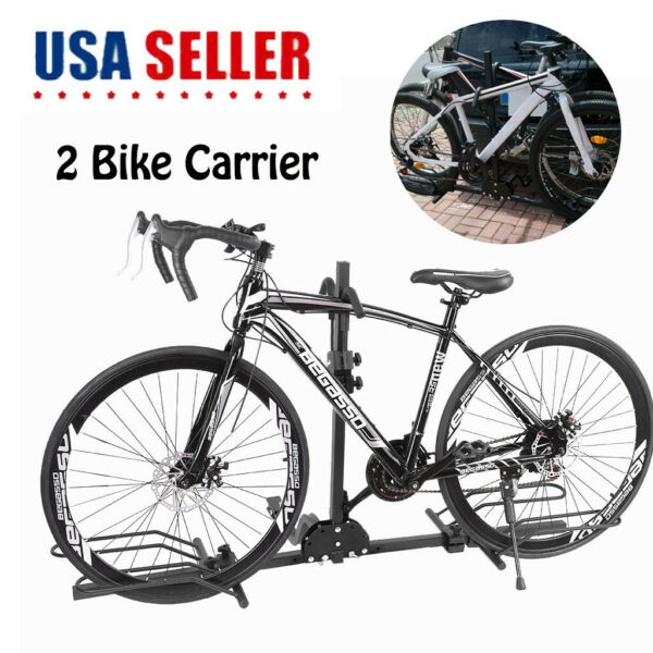 2 Bike Carrier Platform Hitch Rack Bicycle Rider Mount Sport Fold Receiver 2quot; $69.34