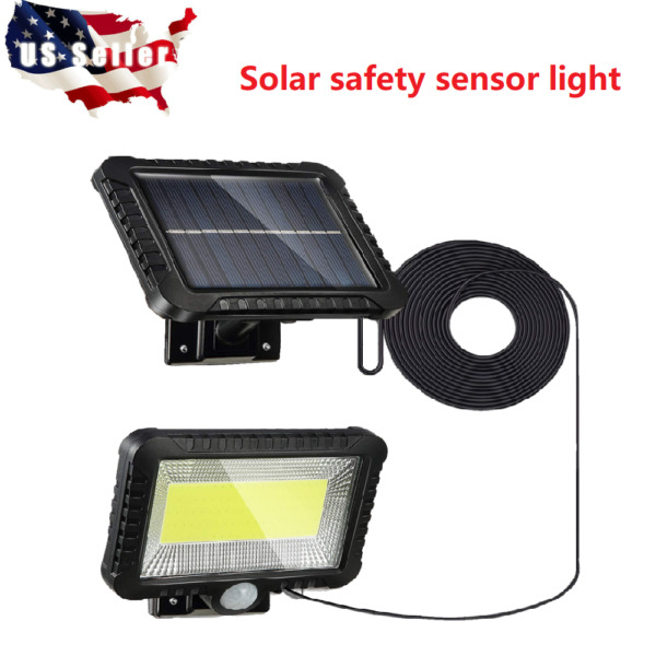 100 LED Solar Powered Sensor Light Motion Sensor Outdoor Security Flood Light