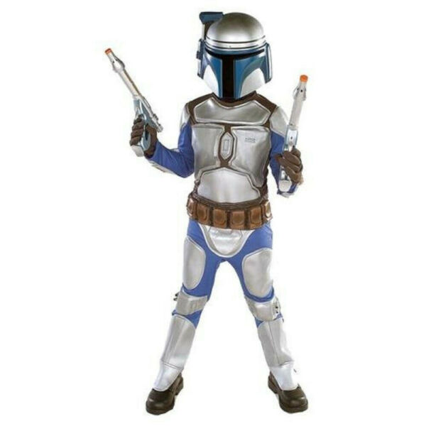 Boys Child STAR WARS Deluxe Jango Fett Costume Outfit 4 6 S $34.99