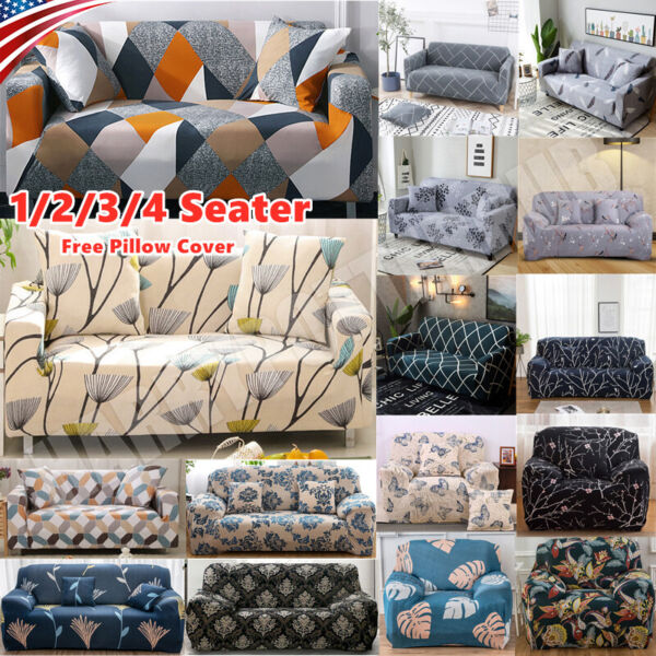 US Printed Slipcover Sofa Covers Spandex Stretch Couch Cover Furniture Protector $22.79
