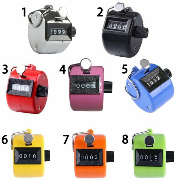 4 Digit Mechanical Hand Tally Number Counter Clicker Counting Manual