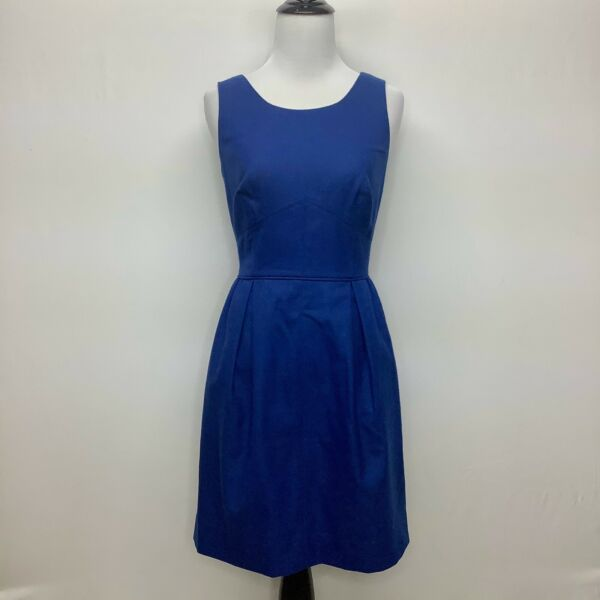 J. Crew Women#x27;s Small Sleeveless Linen Fit amp; Flare Mini Dress Size 2 Lined $19.99