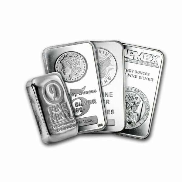 5 oz Silver Bar Secondary Market Brand Varies .999 Fine Silver
