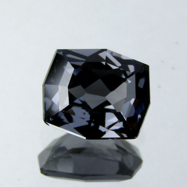 1.77CTS EXQUISITE CUSTOM CUSHION CUT NATURAL CHARCOAL GRAY SPINEL 8x6.9 MM VIDEO $139.99