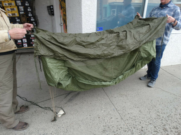 US Army M 1965 Jungle Hammock w Canopy amp; Mosquito Net NSN:8465 00 782 6723 $150.00