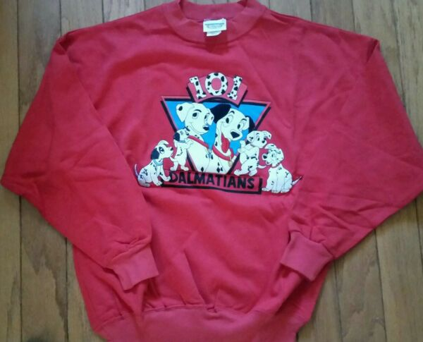 RARE Vintage 101 Dalmations Disney Store 90s NEW Embroidered Sweatshirt Top Dogs $29.99