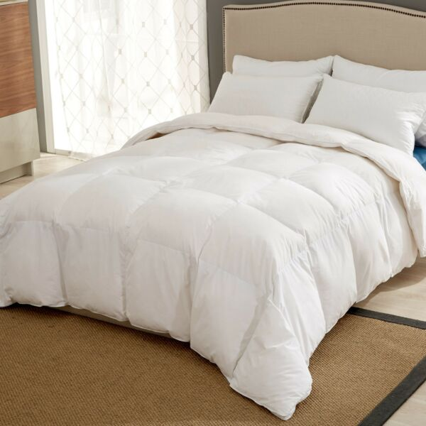 Puredown Down Comforter White Goose Ultra Feather King Size 106oz RDS CERT $68.79
