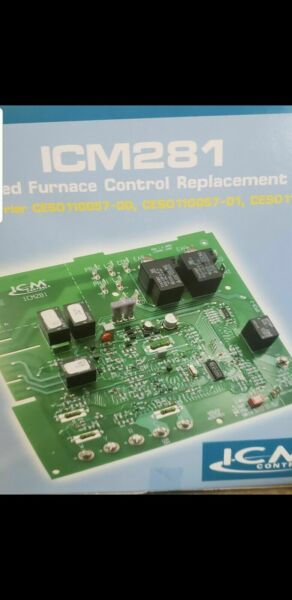 ICM Furnace Speed Control Board ICM281 for Carrier CES0110057 01 CES0110057 02 $55.00