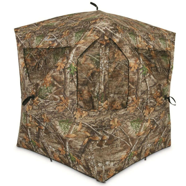 Plano Ameristep Outdoor 3 Person Brickhouse Hunting Blind Camouflage Open Box