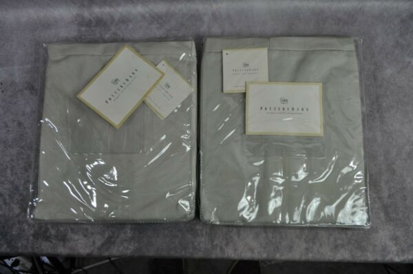 NEW Pottery Barn LOT OF 2 Megan Chair Slipcover Beige Twill 100% Cotton $80.00