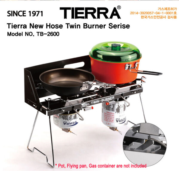 Tierra Hose Twin Gas burner Camping Outdoor