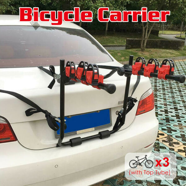 Bike Trunk Rack Rear Mount Three Bikes Carrier Car SUV Bicycle Sedans Sturdy NEW $57.93