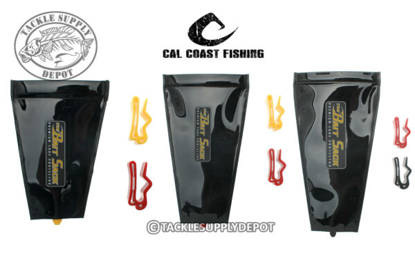 Cal Coast Fishing Bait Sack Black Out Lure Protector Sleeve Cover Wrap SM MD LG $10.99